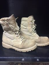 Vibram Military Desert Tan Army Combat Boots suede Steel toe s- 8.5 R