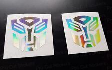 50 mm (5 cm) Autobots x2 Transformers Gold Hologram Neo Chrome Car Stickers Décalques