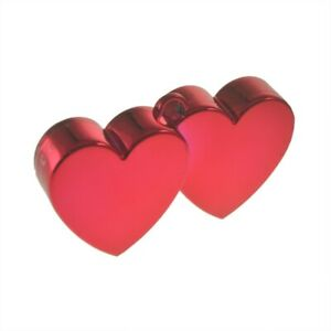 Double Heart Balloon Weights, Various Colours