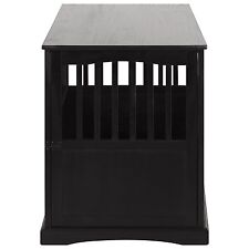 Casual Home 600-22 Wooden Pet Crate End Table, 27 Inch In Black Finish For Dogs