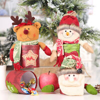 Christmas Santa Claus Elk Doll Candy Gift Box Bottle Container Home Party Decor