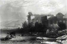 PAESTUM 1850 Albert Henry Payne - Bibby ANTIQUE ENGRAVING