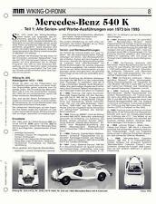 WIKING CHRONIK  MERCEDES-BENZ 540 K,  von 1996