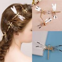 Dragonfly Hair Clip Pearl Bride Headdress Hairpin Bridal Wedding Jewelry Novelty