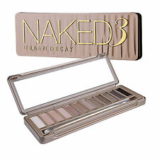 Urban Decay Naked3 Eyeshadow Palette Makeup Eye 12 Shimmery Pink to Deep Shades