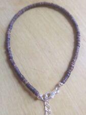 funky brown wooden bead anklet/ankle bracelet boohoo,summer,fun,beach