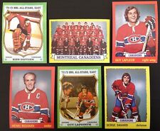 1973-74 Topps Montreal Canadiens Team Set (12) EXMT+ 1973 inc Ken Dryden LaFleur