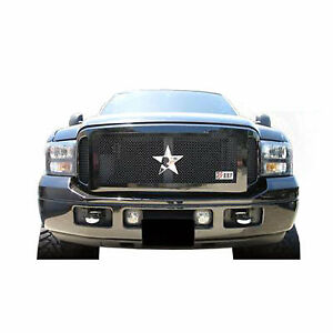 05-07 FORD F250/350 SUPER DUTY RBP RL SERIES BLACK SMOOTH FRAME GRILLE.