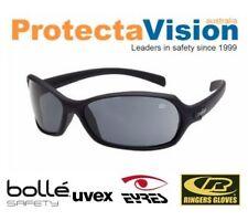 NEW Bolle Hurricane Safety Glasses Black Frame Smoke Lens Sunglasses