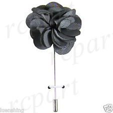 solid flower gray lapel pin wedding New formal Men's Suit chest brooch