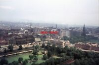 PHOTO  1966 EDINBURGH SKY LINE A VIEW FROM THE CASTLE. IN THE LEFT FOREGROUND IS