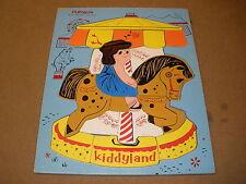 vintage Playskool CAROUSEL wood tray PUZZLE