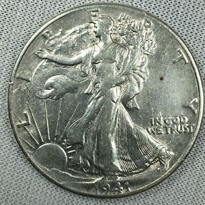 1941 P US Walking Liberty Half Dollar Almost Uncirculated