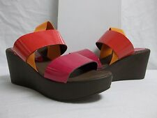 Charles David Size 8 M Fiona Orange Open Toe Wedges New Womens Shoes