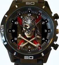 Skull n Bones Gothic Pirate Gift New Gt Series Sports Unisex Unique Watch