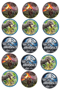 """7.5"""" Personalised Dinosaur World edible icing Round Cake Topper Pre-Cut"""