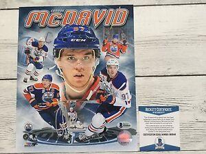 Connor McDavid Signed Autographed Edmonton Oilers 8x10 Photo Beckett BAS COA a