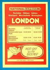 National Express Coach Timetable ~ 858: Rochdale Oldham Stockport London - 1981