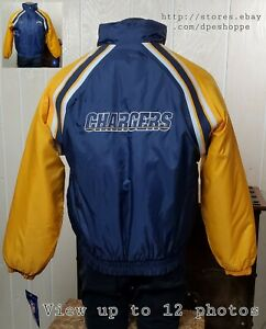 NEW NFL Los Angeles CHARGERS Reebok Quilted Stadium Full Zip Coat Jacket Sz S
