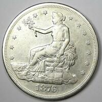 1876-S Trade Silver Dollar T$1 - XF / AU Details - Rare Coin!