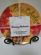"New listing Set of (4) Tommy Bahama 8.5"" Salad/ Dessert Plates (100% Melamine) Pina Colada"
