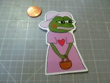 PINK PEPE GLOSSY Sticker / Decal Skateboard Laptop phone Stickers NEW