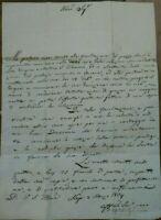 1834 LETTERA SU SANTA FILOMENA VESCOVO DI NEPI SUTRI ANSELMO BASILICI DA ORVINIO