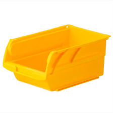 Plastic Stackable Garage Storage Bins with Hangers Small Parts Organizer, 8-Pack
