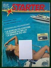 Rivista STARTER n.10 1984 (ITA) Carmen Russo Florence Aubry Austin Healey 3000