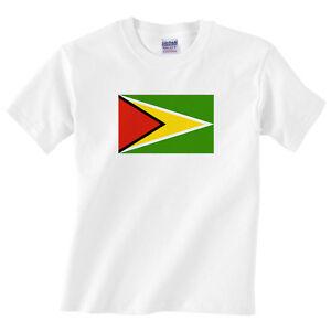 Children's Guyana T Shirt - Boys or girls Guyanese Flag tee