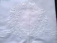 Embroidery 6 Pieces Fine Linen Cotton Embroidered Lace White Guest Towel 14x22""