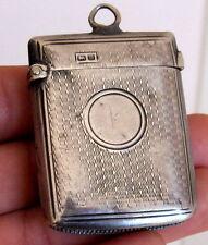 748-INDALO- Precioso cerillero de plata inglés siglo XIX !!!!!!!!!!!!!!!!!!!!!!!