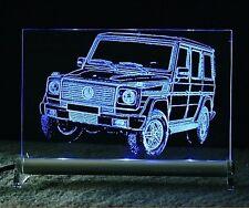 LED Leuchtschild - graviert ist DB G 4x4 Forst Autogravur Geländewagen