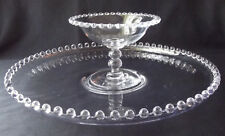 """RARE IMPERIAL GLASS OHIO CANDLEWICK 13-1/4"""" FLOAT BOWL PLATTER & COMPOTE SET"""
