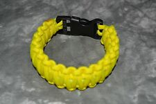 SURVIVAL BRACELET yellow wide 1'' for wrist 9 inches max (storebte#5)