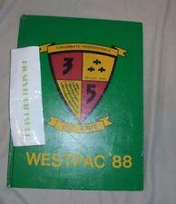 "US Marines USMC 1988 3/5 3rd BATTALION 5th ""GET SOME"" WESTPAC CRUISE BOOK BLT"