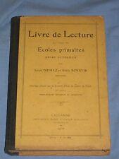 LIVRE DE LECTURE a l'usage des ECOLES PRIMAIRES - L. Dupraz E. Bonjour  (E2)