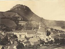 Suisse SchweizSaxonne Bord de l'Elbe Vintage albumine ca 1880