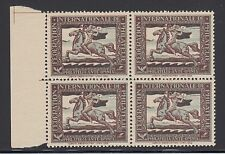Austria, 1929 Hesshaimer IFP Essay, MNH margin block of 4, VF