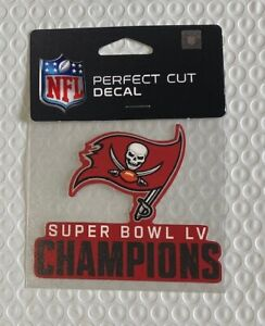 "Tampa Bay Buccaneers Bucs 4"" x 4"" Super Bowl Champions Car Window Die Cut Decal"
