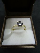 9ct Gold Ring set with Mystic Topaz, Size O