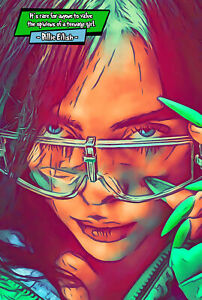 Billie Eilish Comic Icons Art Print (Available In 4 Formats)