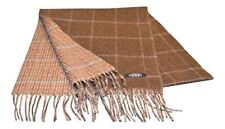 100% Cashmere Scarf - Brown Check/Reversible/Houndstooth Check - Made in Scot...