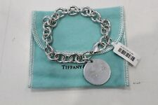 Tiffany & Co. Silver Return To Round Tag Bracelet 19cm