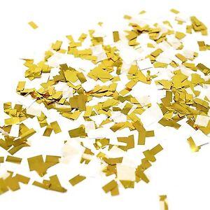 White Gold Foil Shredded Confetti Paper Glitter Party Decoration Gold Glitter
