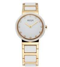 NEW Bering Rose Gold White Ceramic with stone dial bracelet watch 32430-761 £269