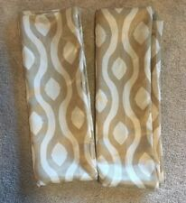 Mainstays Curtains 2 Panel Curtains Taupe Waves Print