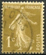 "FRANCE TIMBRE STAMP N° 277 B "" SEMEUSE FOND PLEIN 1c BISTRE BRUN "" OBLITERE TB"