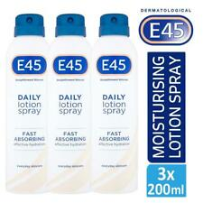 3 x E45 Straightforward Skincare Daily Lotion Spray 200ml For Dry Skin
