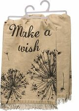 "NEW!~Make a Wish~28"" DISH TOWEL~Hand/Kitchen/Tea Towel~Some see weeds Dandelion"